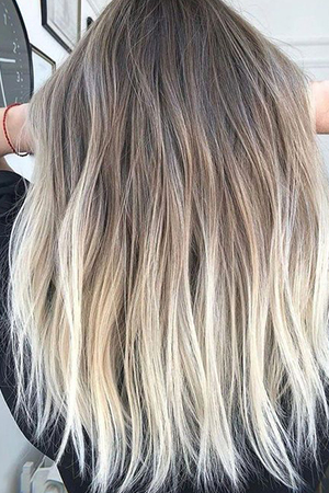 coloration ombré hair blond