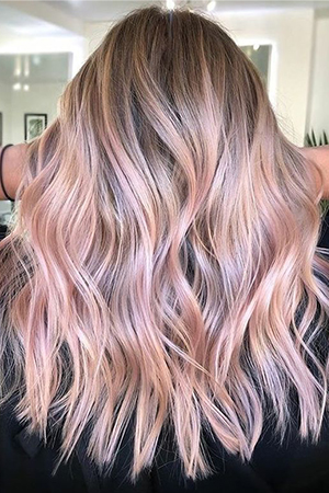 coloration ombré hair rose