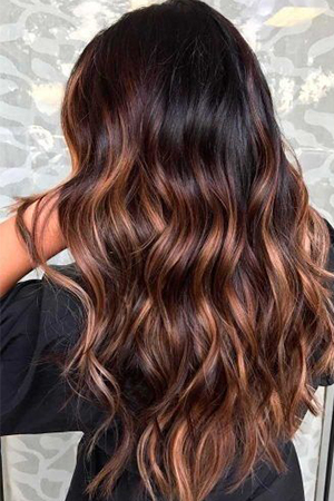 coloration ombré hair caramel
